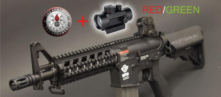 G&G Combat Machine 16 Raider (M4CQB) red dottal