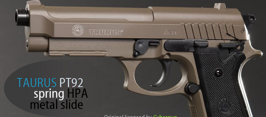 Taurus PT92 HPA TAN fém szán