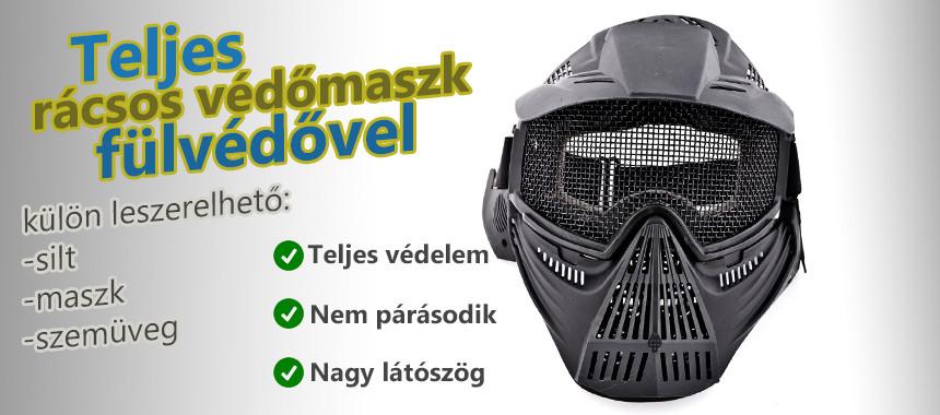 Commander rácsos maszk
