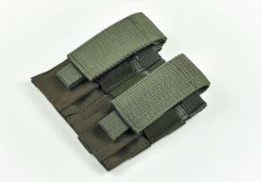 10.11 dupla pisztoly tártartó zöld