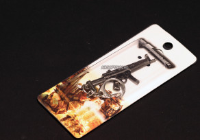 Fém kulcstartó MP5