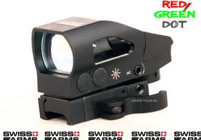 Kompakt fém RED/GREEN-DOT célzó