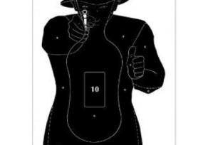 Lőlap 40x60 cm shooter