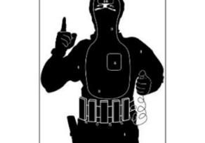 Lőlap 40x60 cm terrorista